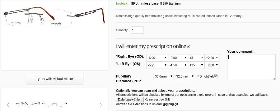 Prescription Glasses and Magento