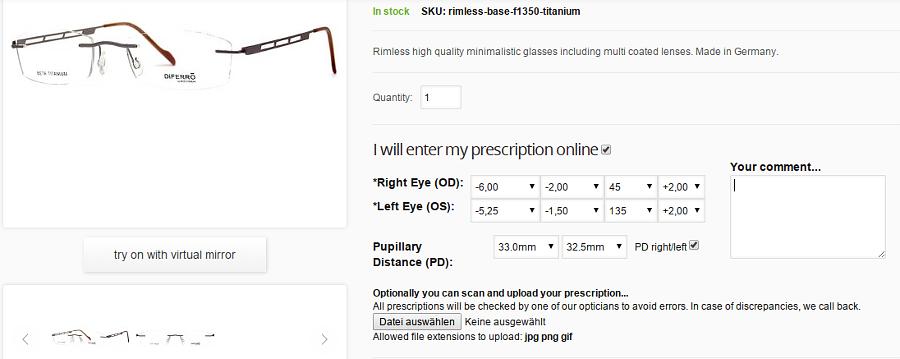 Prescription Glasses and Magento
