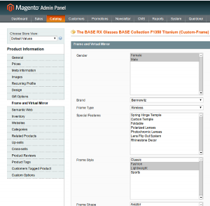 Virtual Mirror and Magento Admin