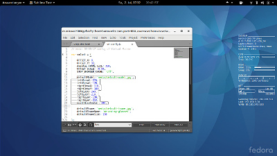 Writing code for Virtual Mirror on Linux Fedora